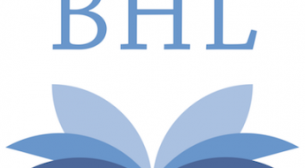 Portrait version of the Biodiversity Heritage Library logo.