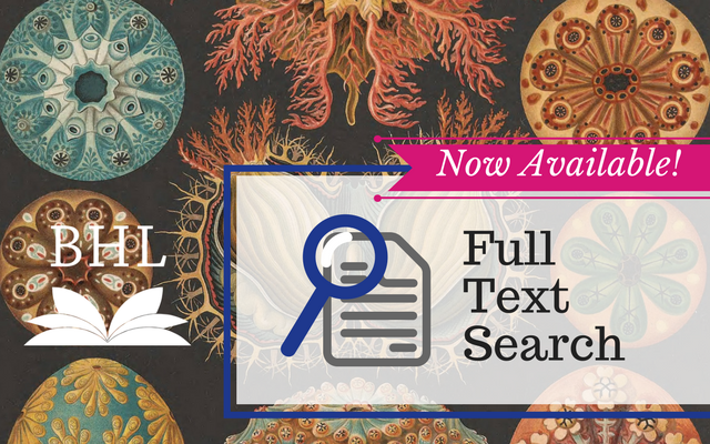 Now Available on BHL: Full Text Search!