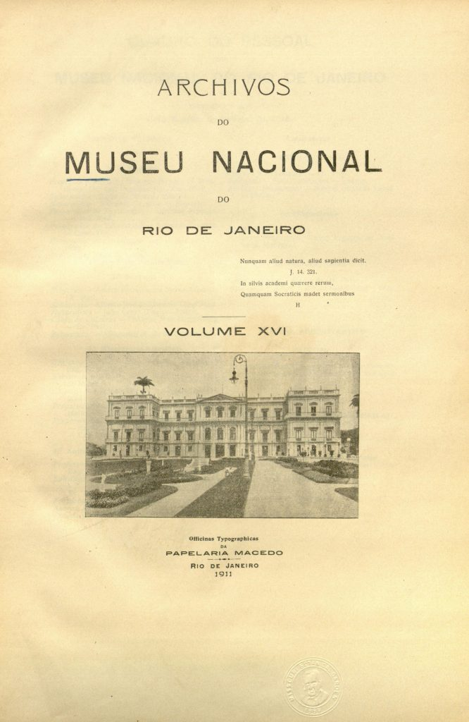 Archivos do Museu Nacional do Rio de Janeiro