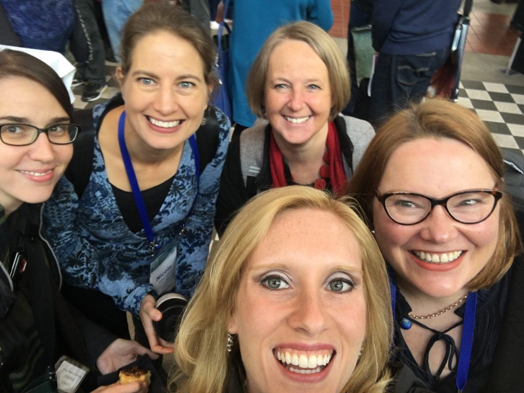 A group selfie with some of the excited BHL representatives! Left to right background: Carolyn Sheffield, Nicole Kearney, Elycia Wallis, Siobhan Leachman. Foreground: Grace Costantino