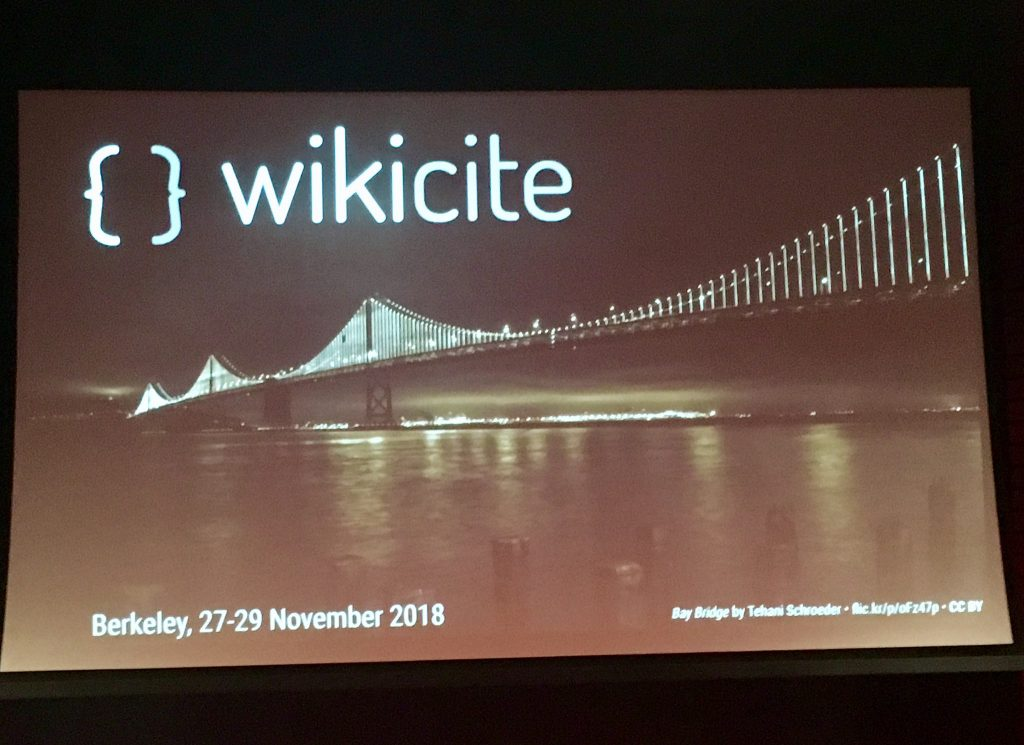 WikiCite 2018_ Photo Credit_ Diane Shaw. Graphic by Dario Taraborelli _CC-BY 4.0_ with photo by Tehani Schroeder.
