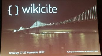 WikiCite conference in Berkeley, ca, 27-29 November 2018.
