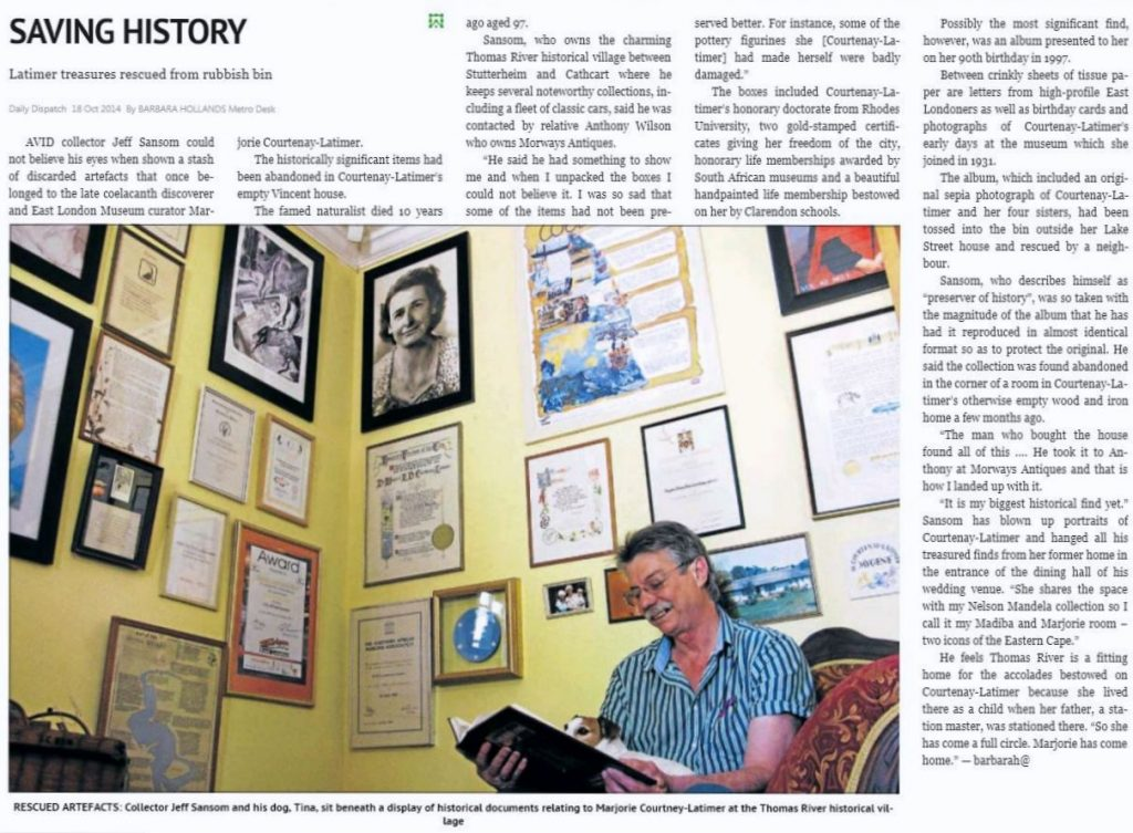 Saving History (Daily Dispatch 18th Oct 2014)