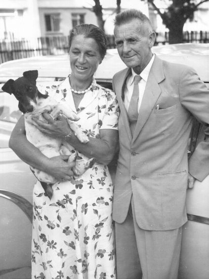 Margaret and JLB Smith with their dog, Marlin.