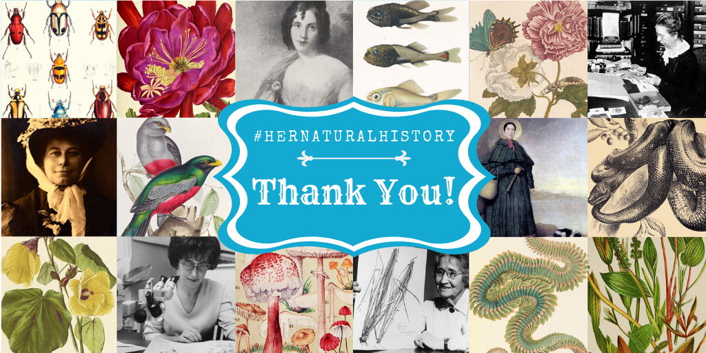 Thank you graphic for #HerNaturalHistory