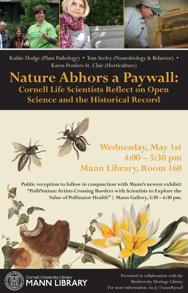 "Flyer for the event ""Nature Abhors a Paywall"""