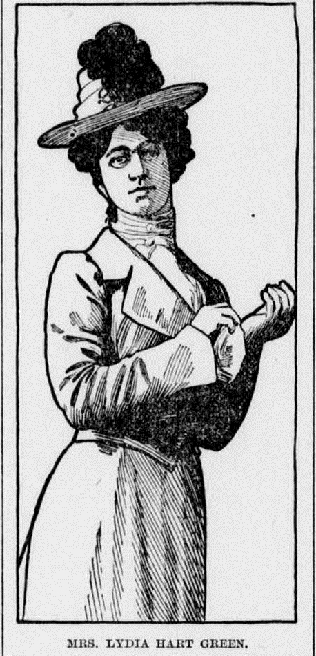 Illustration of an early 20th century woman