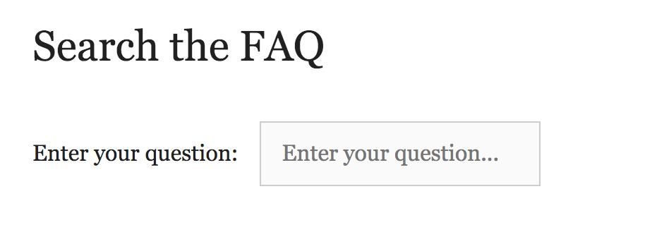 Search box for the BHL FAQ.