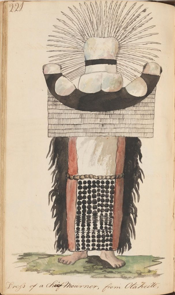 illustration of a mourning dress