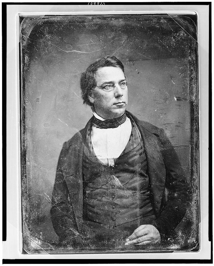 George Perkins Marsh, half-length portrait, head three-quarters to right, with spectacles https://lccn.loc.gov/2004664024