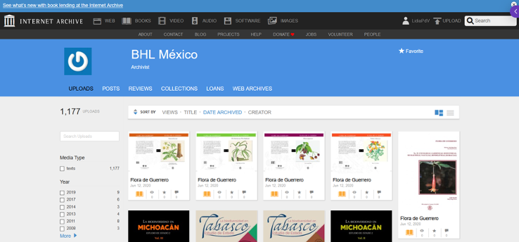 BHL México in the Internet Archive