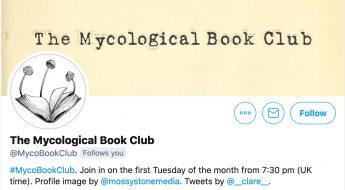 Screenshot of the Twitter profile of @MycoBookClub.