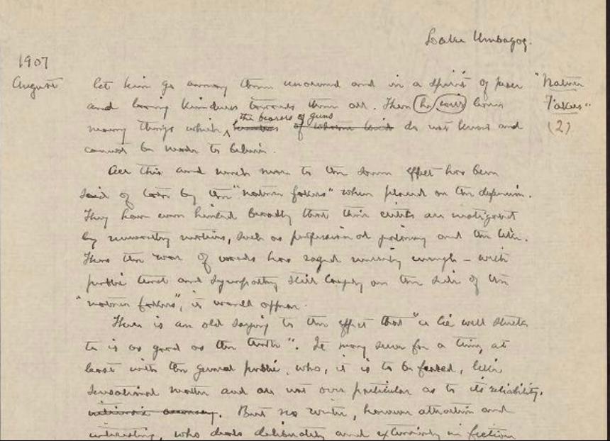 handwritten page from a field notebook.
