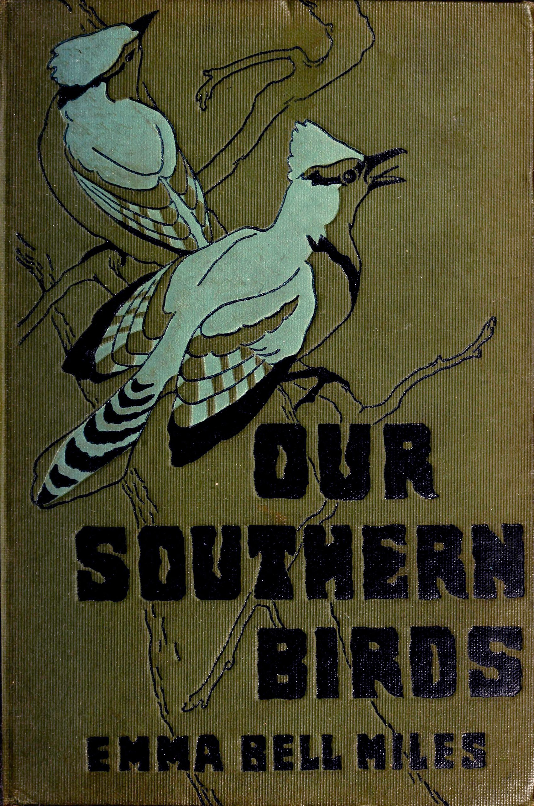 "Illustrated book cover featuring two birds and title ""Our Southern Birds"""